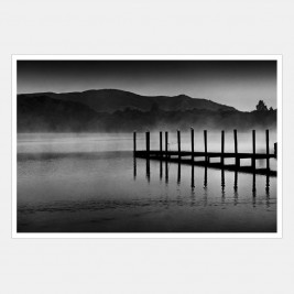 Early Morning Rowing on Derwentwater, Lake District, Cumbria.