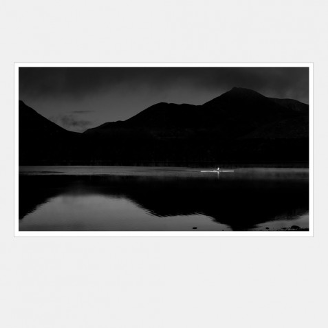 Early Morning Rowing on Derwentwater, Lake District, Cumbria