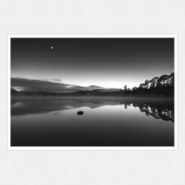 Morning Moon over Derwentwater, Lake District, Cumbria