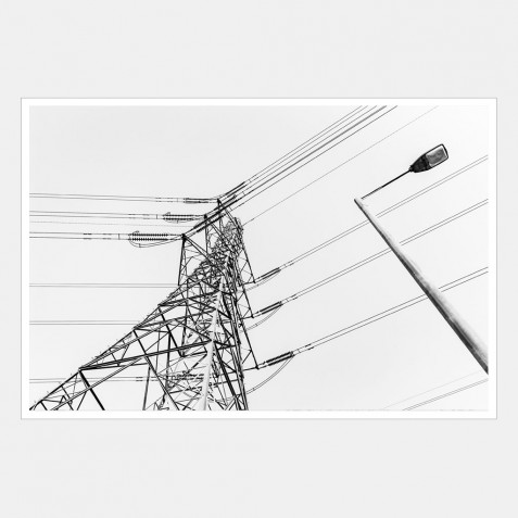 An Electric Pylon with a Lamp Post in the Foreground | 2 of 2