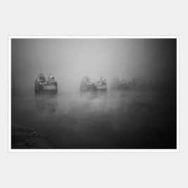 Thames Barrier on a Foggy Morning