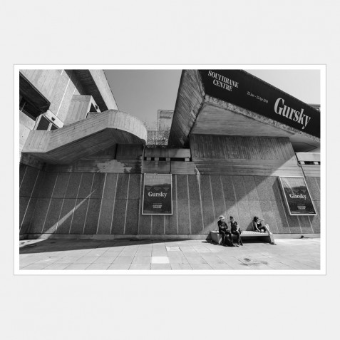 People Sitting on a Bench, Hayward Gallery, Southbank Centre Arts Complex