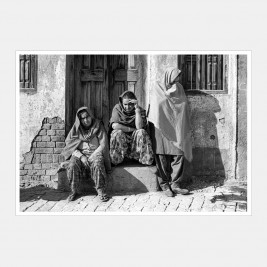 Three women passing time of day, Punjab, India